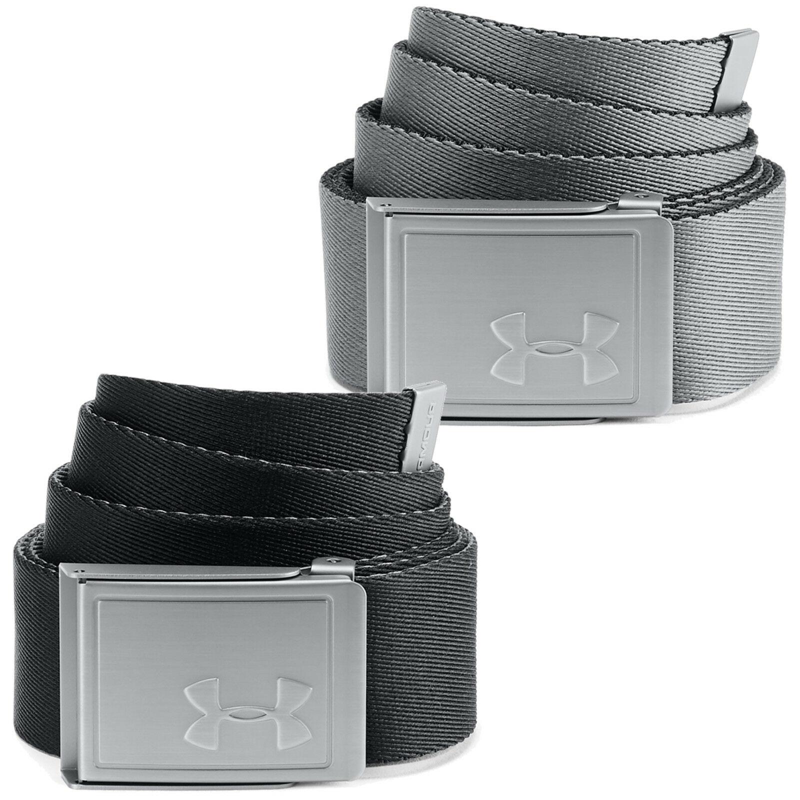 Under Armour Golf Reversible Webbing 2.0 Mens Belt  - Black/Pitch Grey
