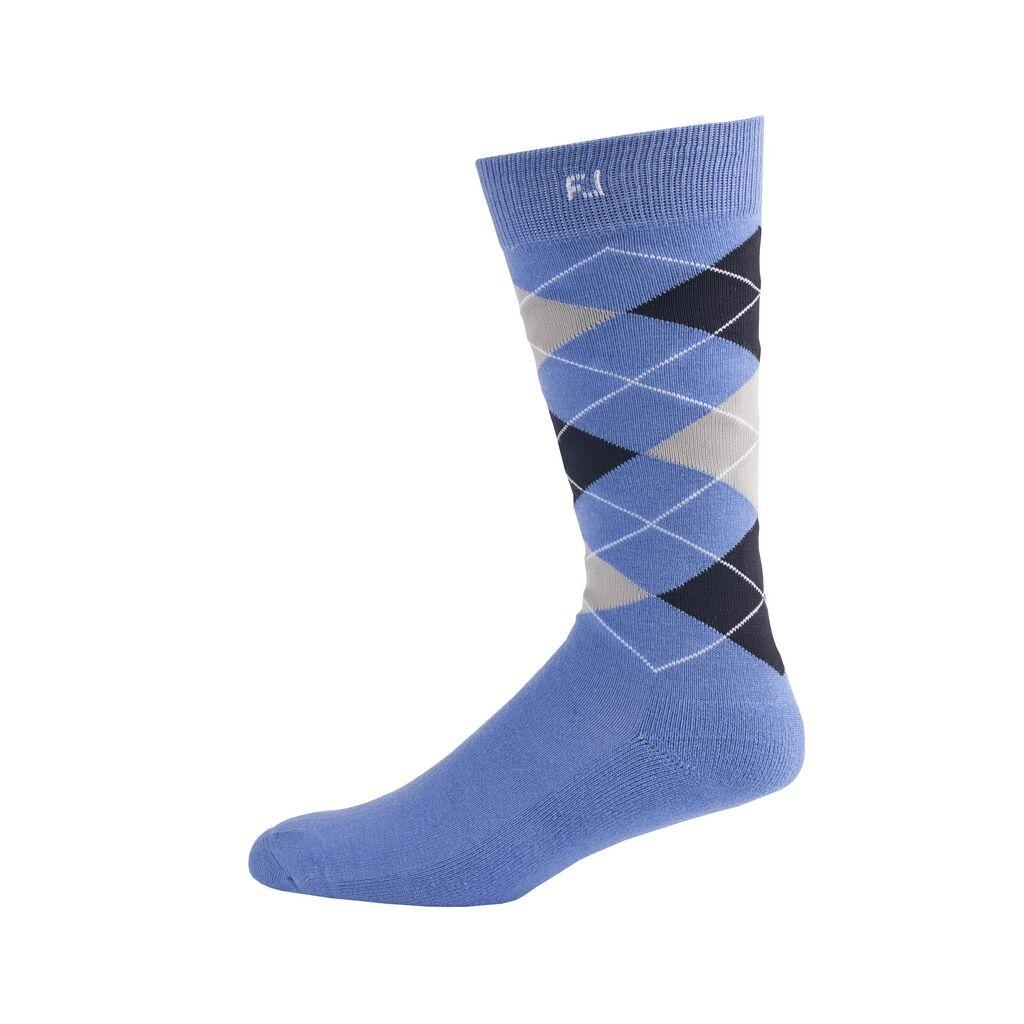 FootJoy Golf ProDry Fashion Crew Argyle Mens Socks  - Blue