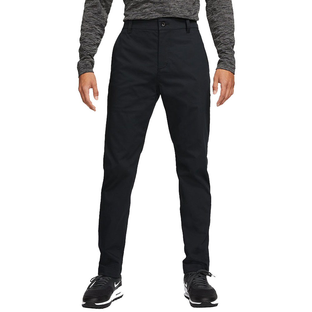Nike Golf Dri-Fit UV Chino Pants Slim Trousers  - Black