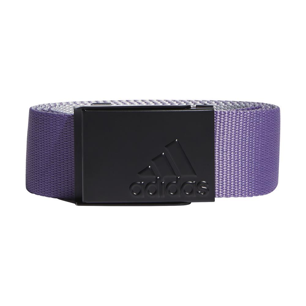 adidas Golf Mens Reversible Webbing Belt  - Tech Purple/Grey