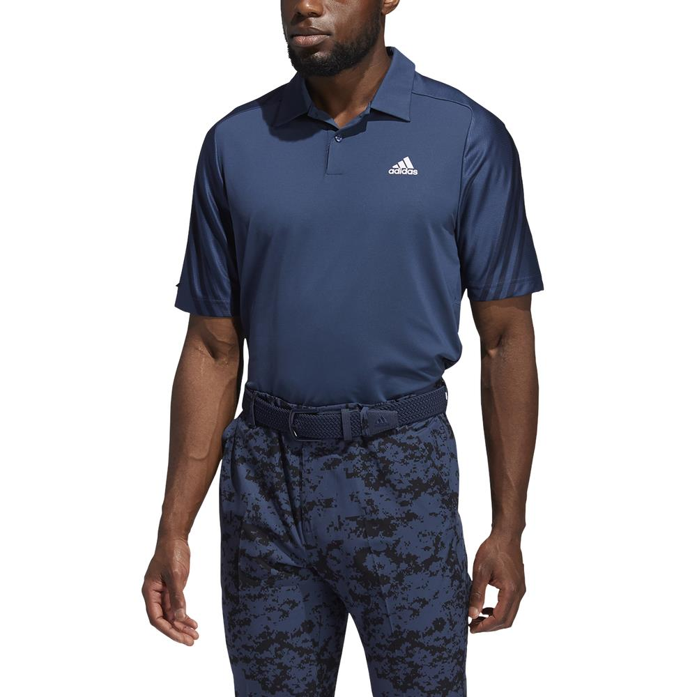 adidas Golf HEAT.RDY 3-Stripe Polo Shirt