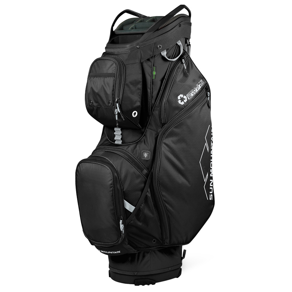 Sun Mountain Ecolite Cart Golf Bag - Made with recyced fabric.  - Black