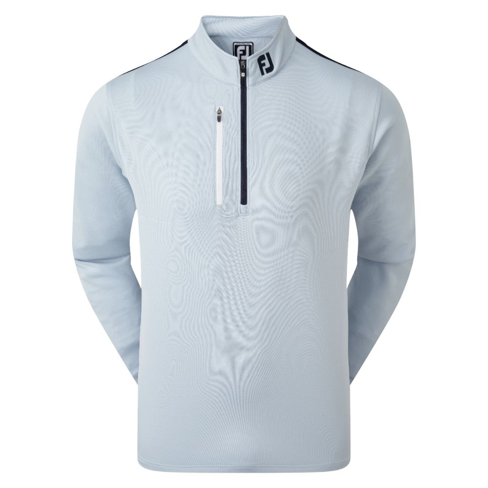 FootJoy Golf Sleeve Stripe Chill-Out Mens Pullover  - Blue Fog/White/Navy