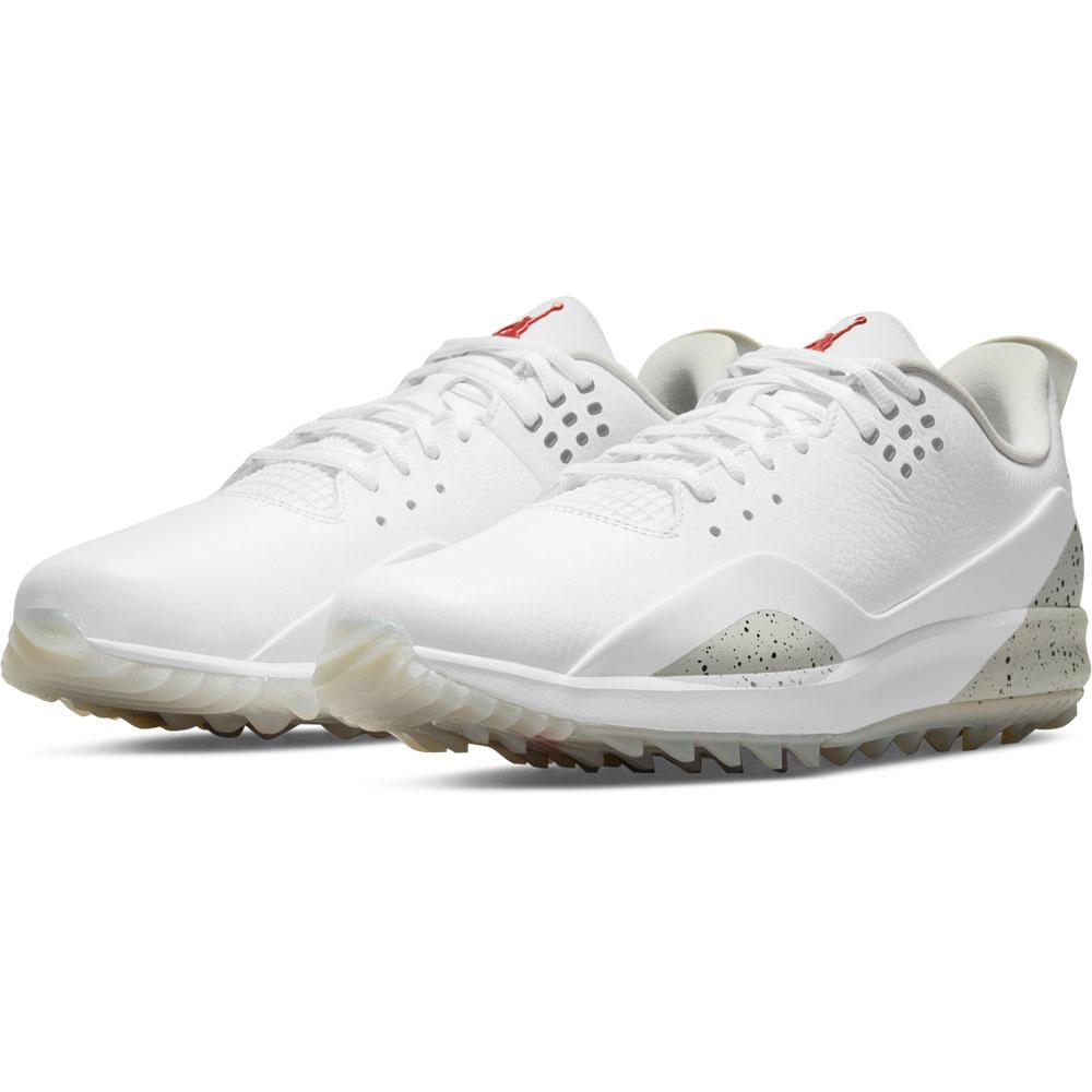 Nike Air Jordan ADG 3 Spikeless Golf Shoes  - White/Tech Grey/Black/Fire