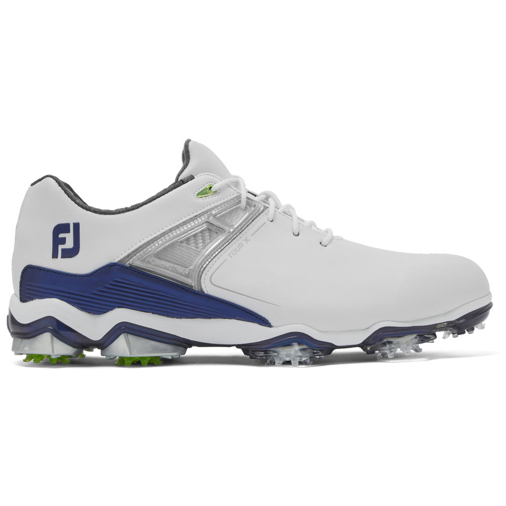 FootJoy Tour-X Mens Golf Shoes  - White/Navy