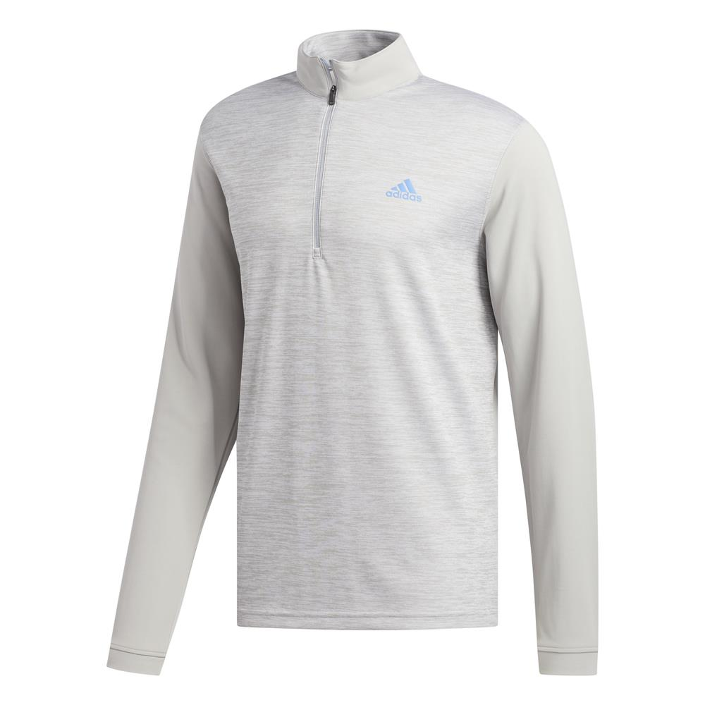 adidas Golf Mens Core Layering 1/4 Zip Pullover  - Grey Two