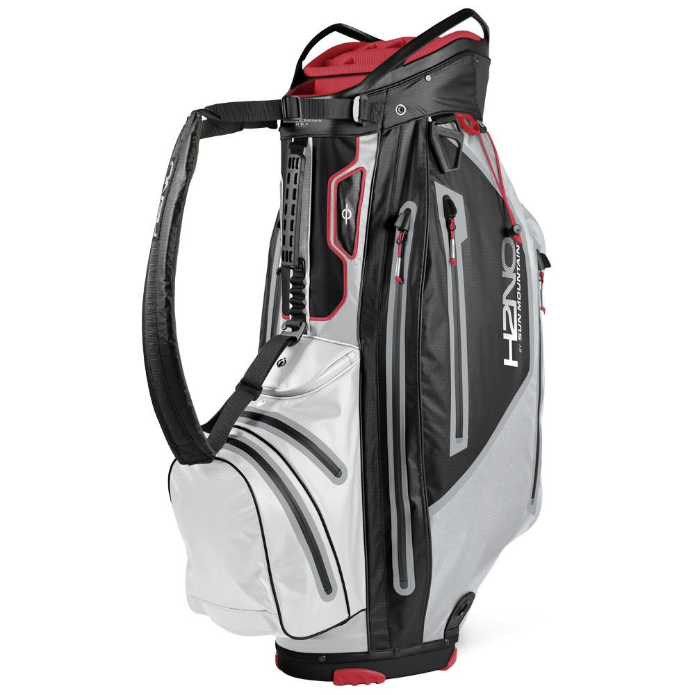 Sun Mountain H2NO Elite Cart Waterproof Golf Bag  - Black/Cadet/White/Bright Red