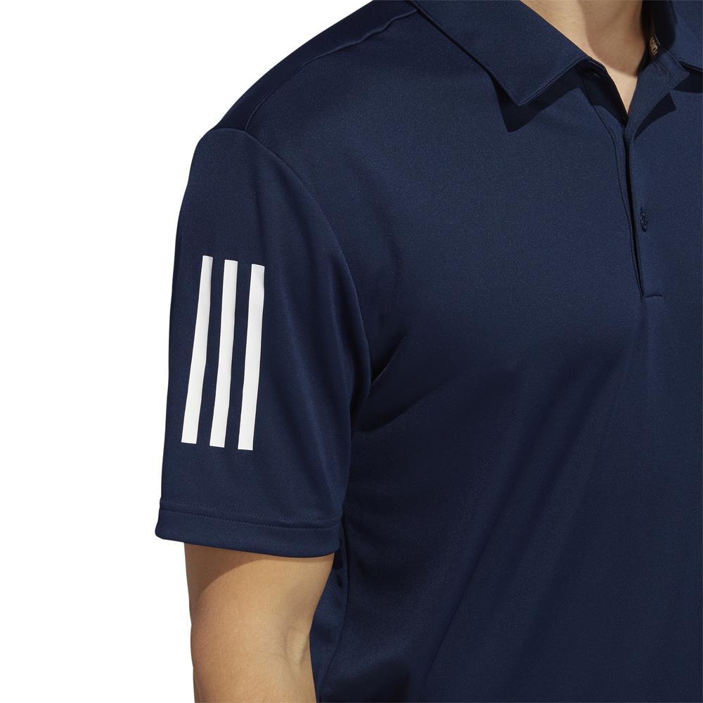 adidas Golf 3-Stripe Basic Mens Polo Shirt (Collegiate Navy)