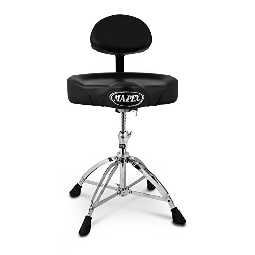 Mapex T775 Drum Stool Throne With Back Rest Ebay