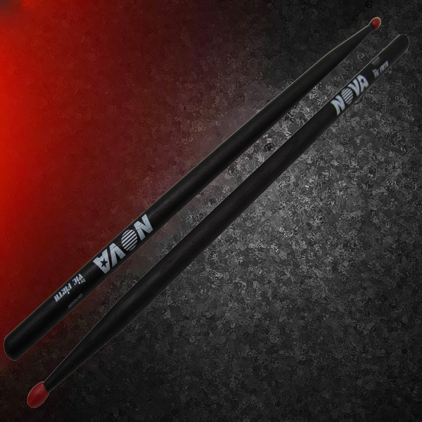 Nova VF-N7ANB By Vic Firth 7A Black Nylon Tip Drum Sticks Five Pair Offer!