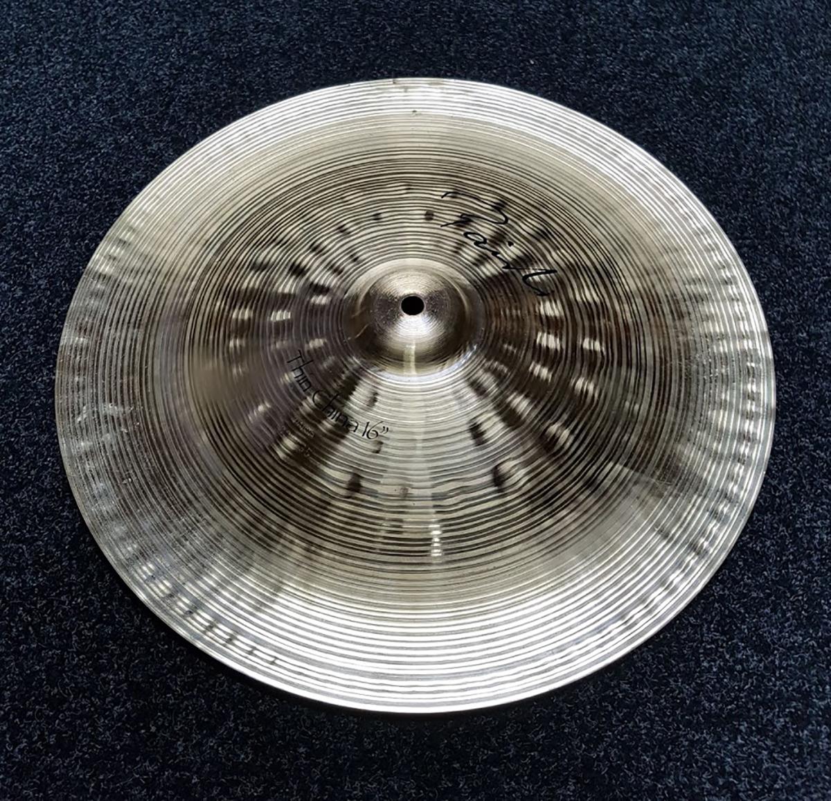 paiste 16 signature thin china cymbal used rkpc241018 ebay. Black Bedroom Furniture Sets. Home Design Ideas