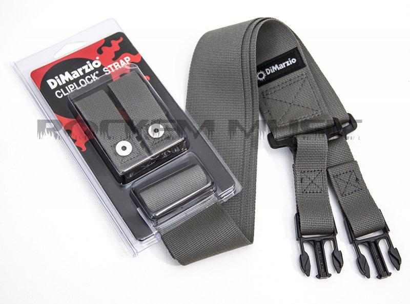 DiMarzio Cliplock Cordura Quick Release Guitar Strap Grey DD2200GY