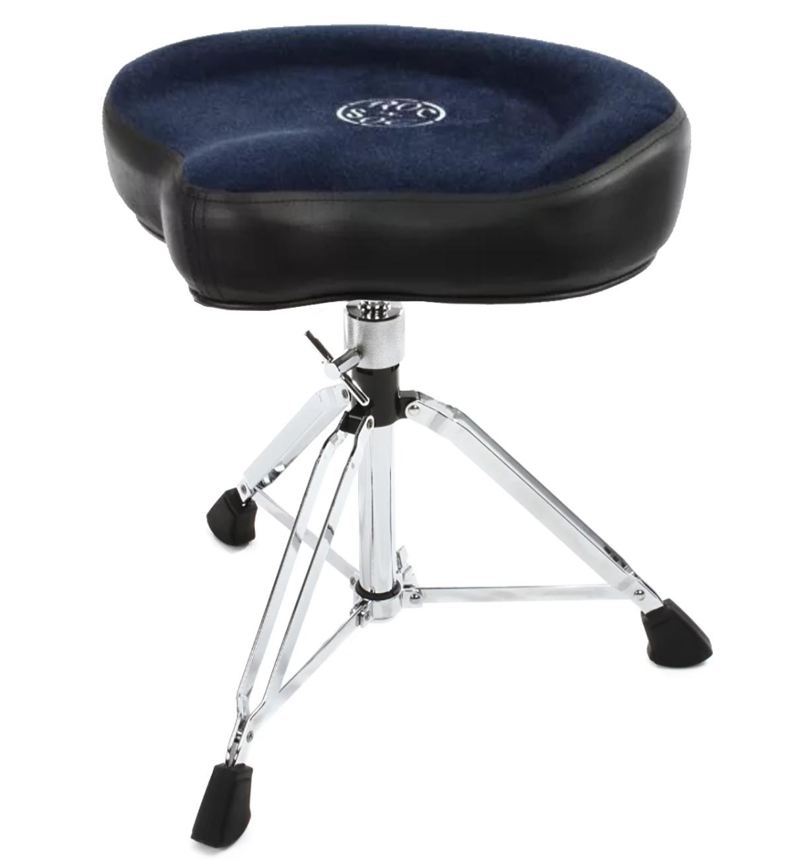 roc n soc drum stool throne with custom base blue ebay. Black Bedroom Furniture Sets. Home Design Ideas