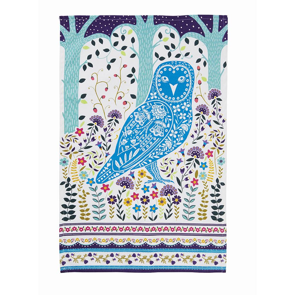 Owl 100/% Cotton Tea Towel