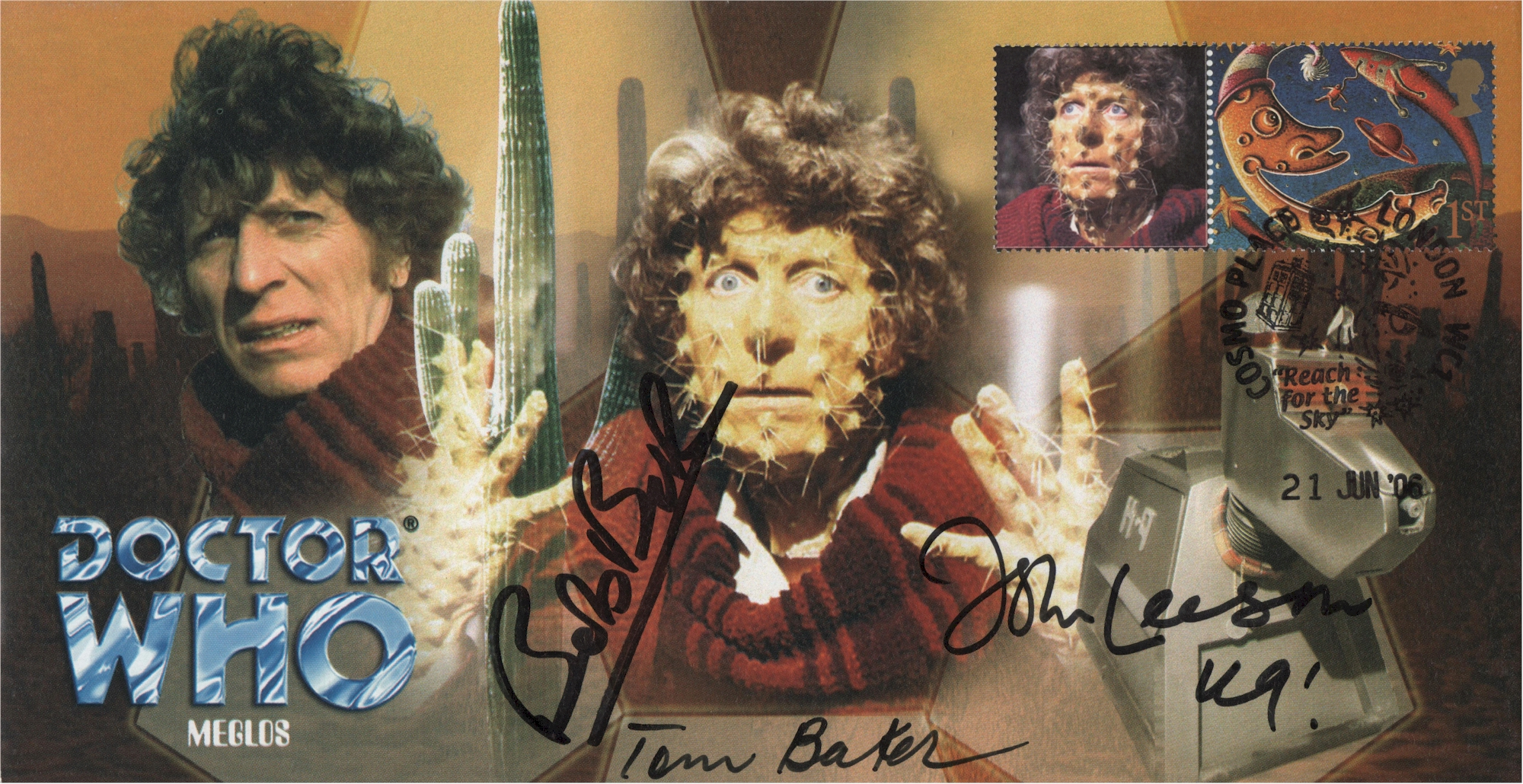Doctor Who Battlefield Episode Collectable Stamp Cover Signed ANGELA BRUCE