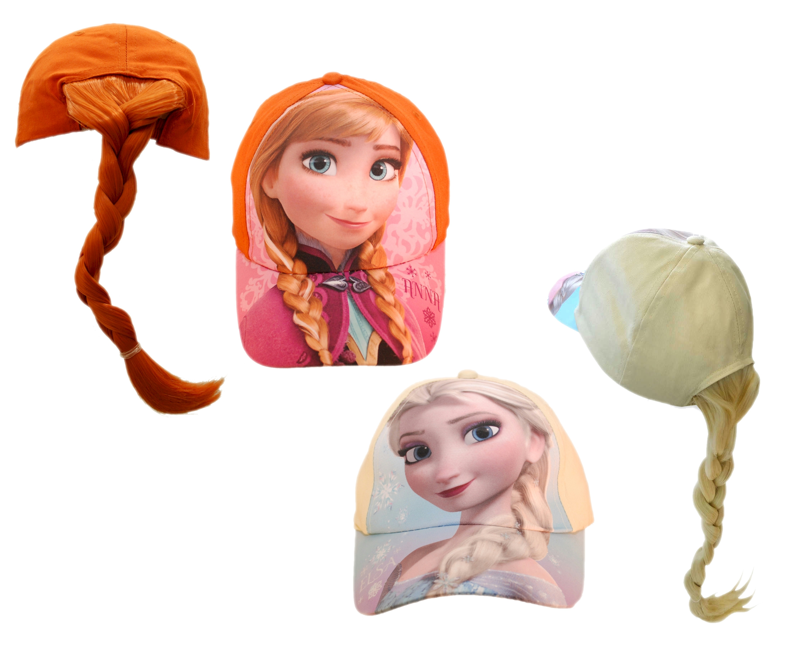 Frozen Anna   Elsa Baseball Cap with Fake Hair Ponytail - Great fun in the  sun! 5eaec3c38d4