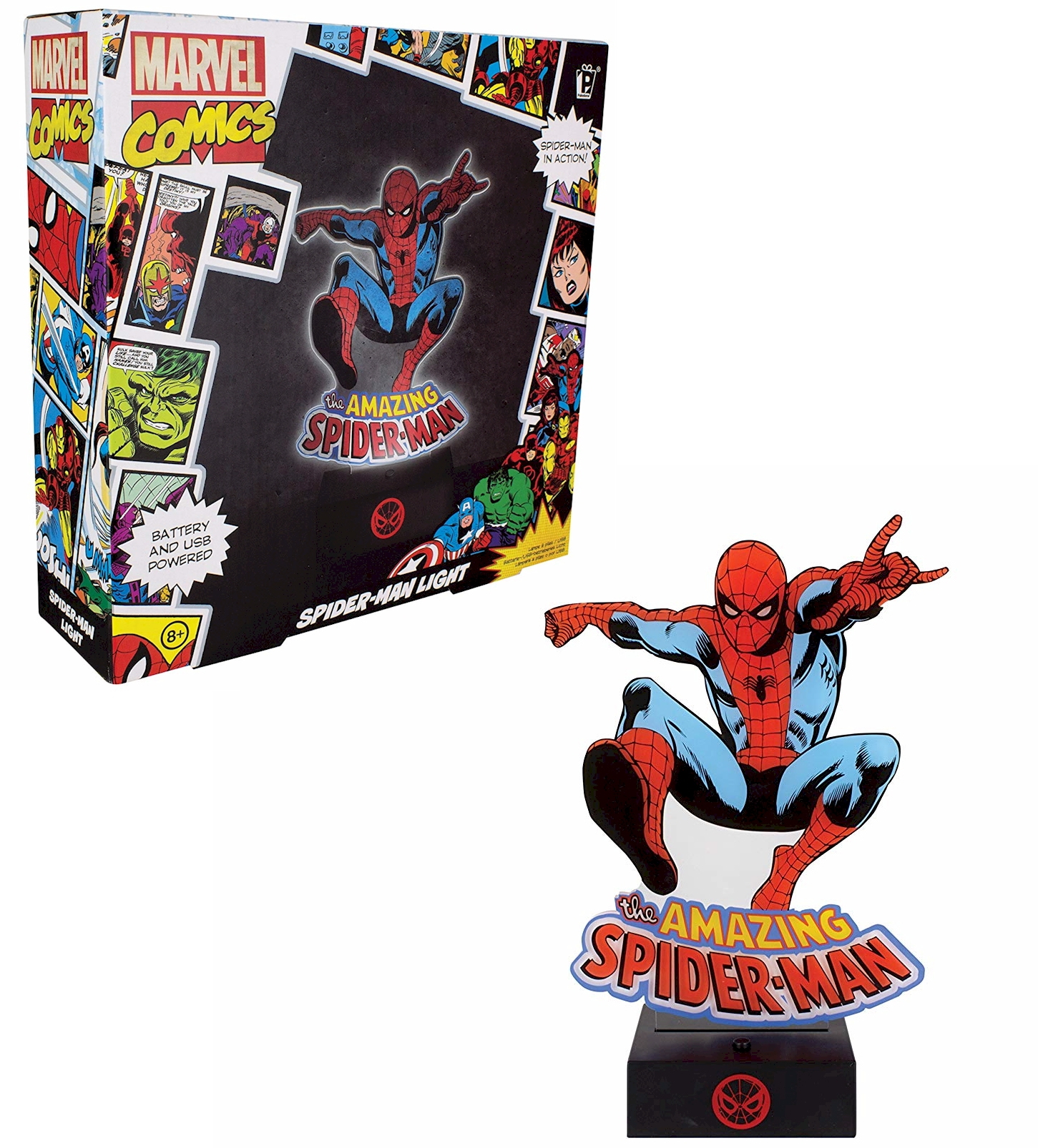 Spider Man Acrylic Bedside Table Lamp Light Official
