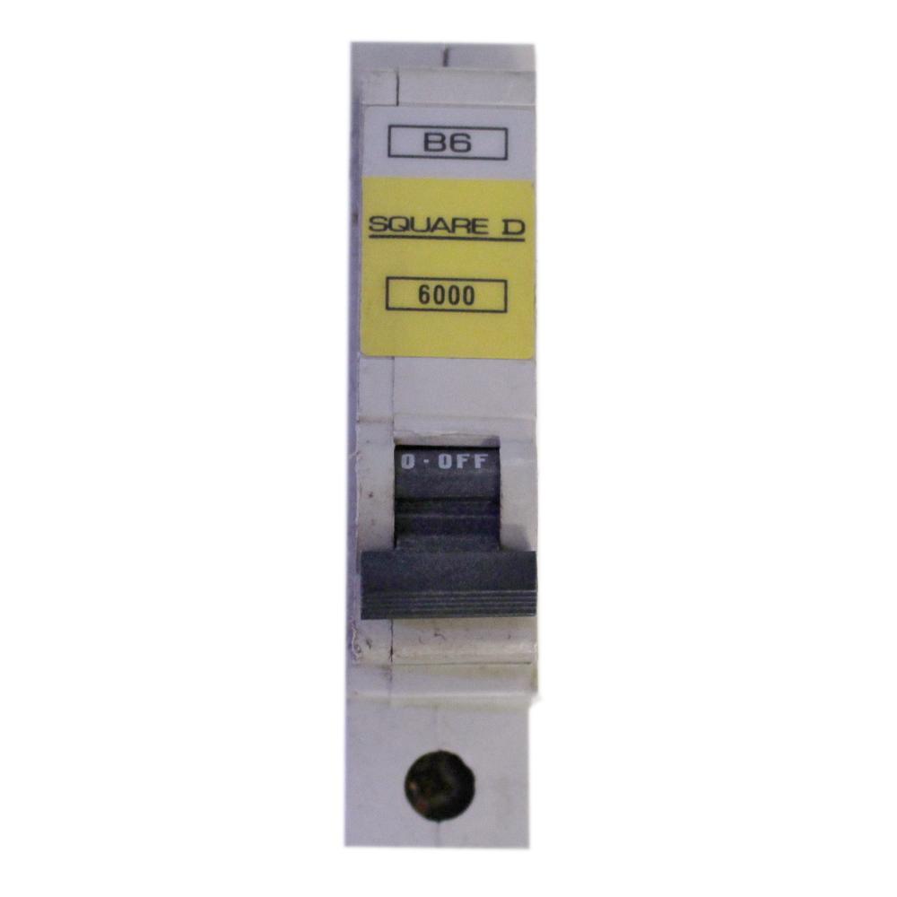 SQUARE D QOE 6000 RANGE B6 6 AMP CIRCUIT BREAKER.QO106EB6