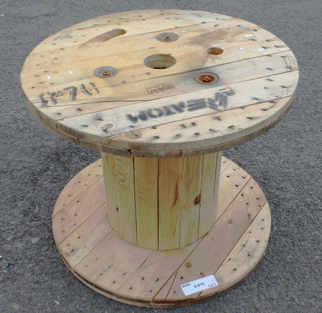 Kabeltrommel holz rollen f r rustikale garten terrasse tisch sitz upcycled ebay - Kabeltrommel holz tisch ...