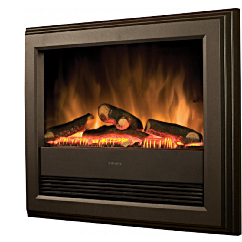 Dimplex Bach Electric Fire Black Wall Mounted Or Inset