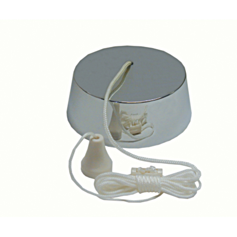 6A Pull Cord Switch Chrome 2 Way Bathroom Toilet Ceiling ...