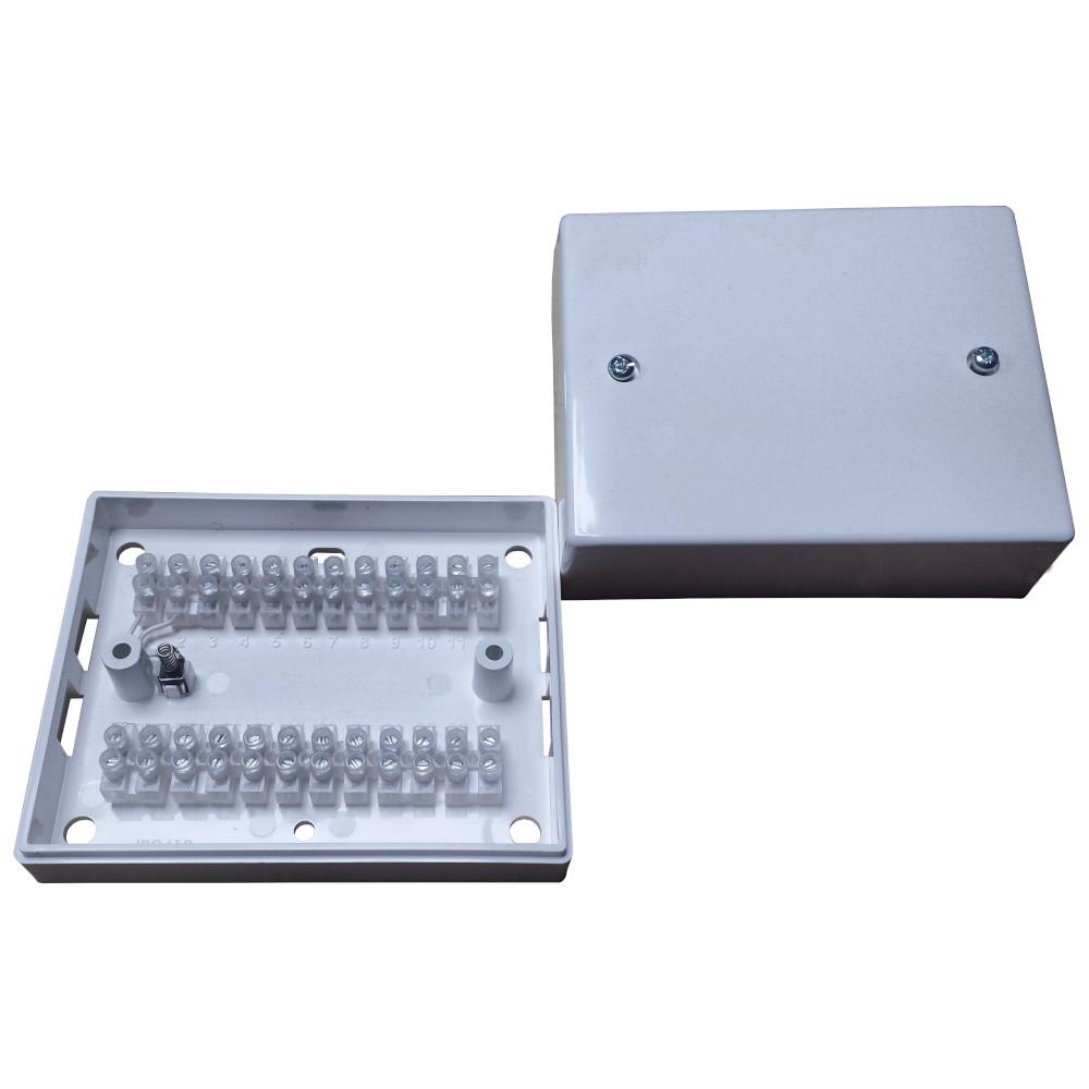 Joint Connection Box 6 Way Brown Burglar Junction Tamper Intruder Alarm