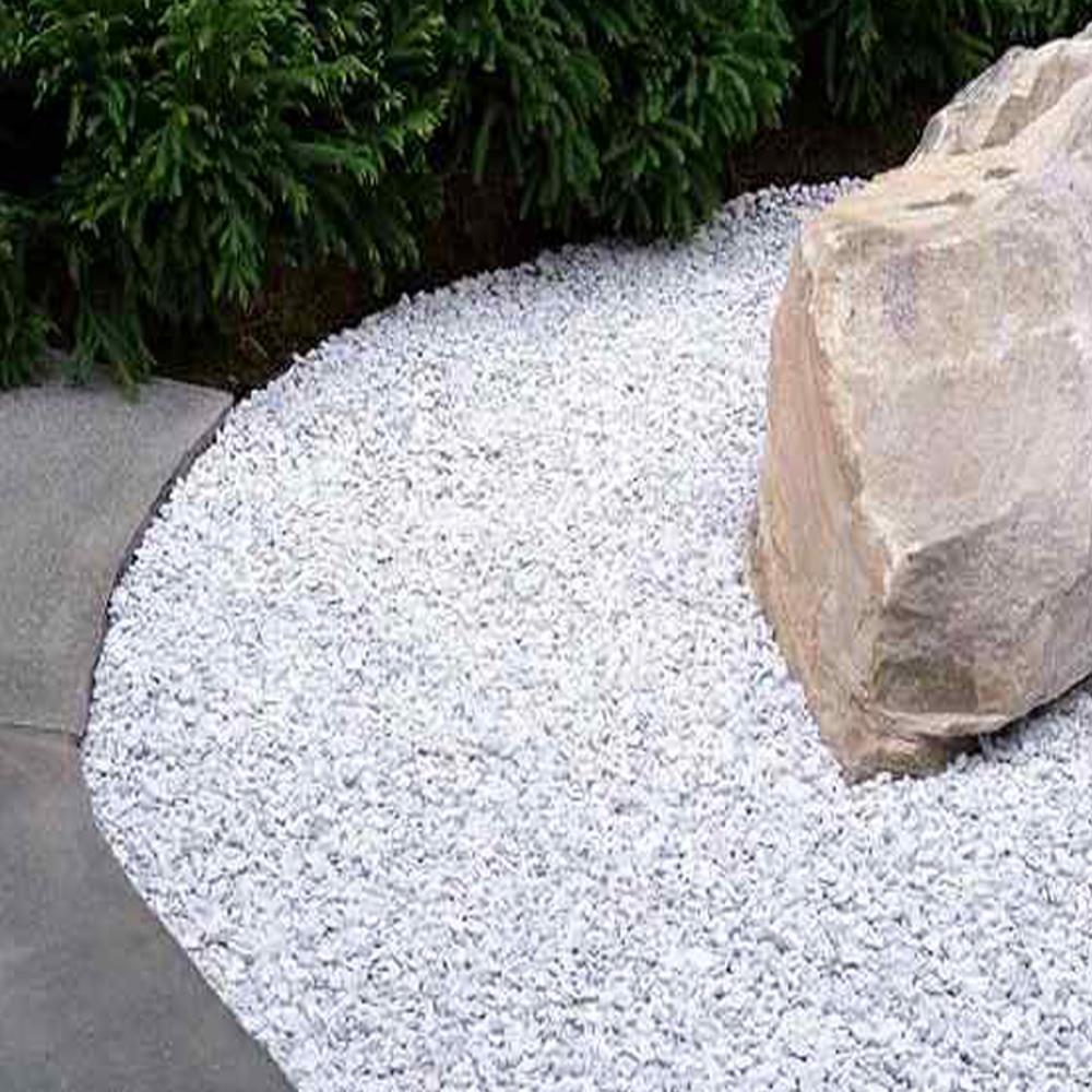 White Decorative Stones : Hadley alpine white decorative stone chippings garden