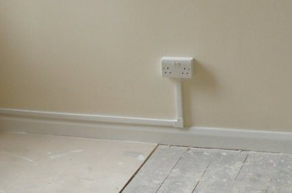 25 X 16 Self Adhesive Mini Trunking White Electrical Cable