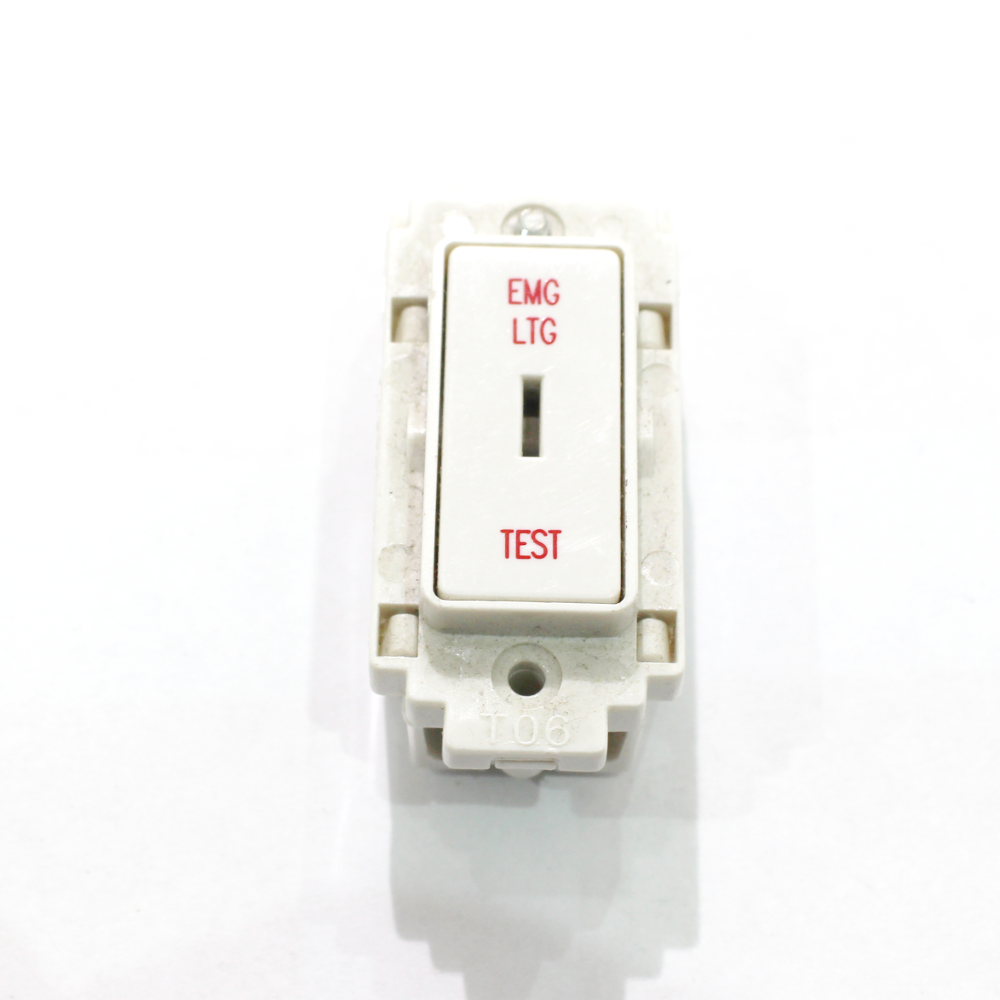 Crabtree Rockergrid Ct4551 20a 2 Way Grid Key Switch Module In White Wiring Accessories