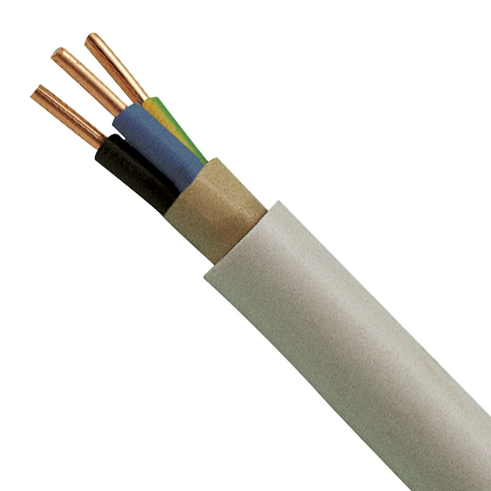 NYM-J Cable 2.5mm 3 Core Sheathed PVC Installation cable Moisture ...