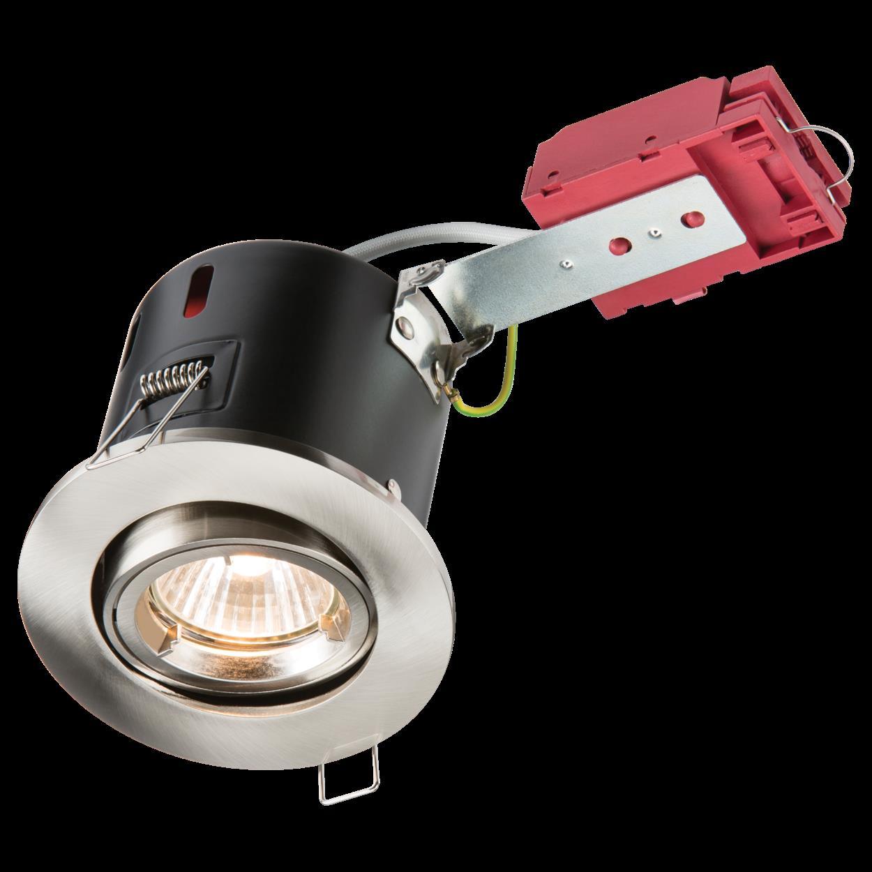 Knightsbridge IP20 Fire-Rated LV Fixed Downlight Kit 50mm White x1