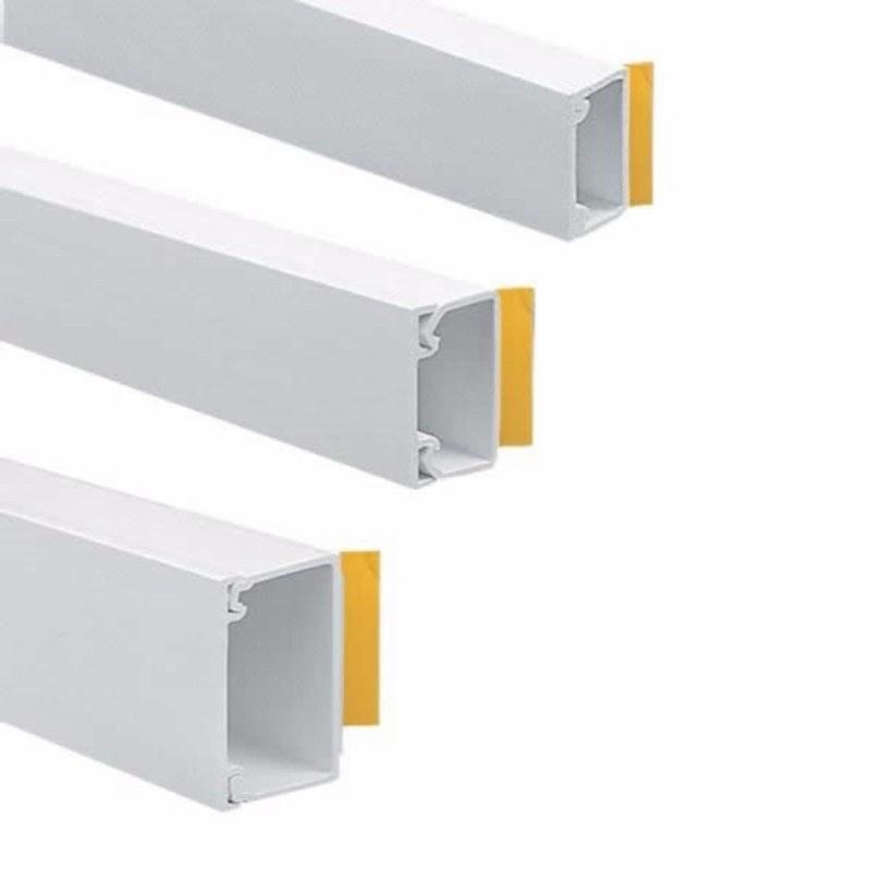 Gaine de Câble Fil Mur TV 1 M auto-adhésif Cordon Mini Trunking blanc 30 mm x 15 mm