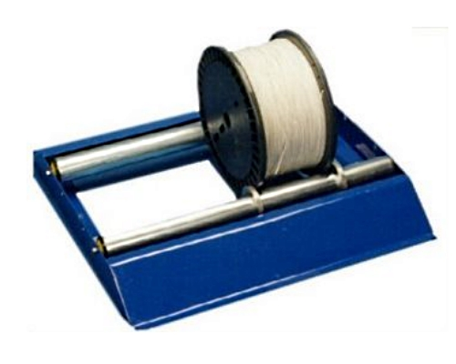 Blue Electrical Cable Reel Drum Holder And De Reeling