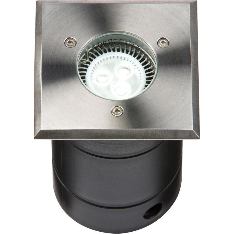 Knightsbridge Up// Down Stainless Steel Wall Lights Round or Square IP20 2 x 35W