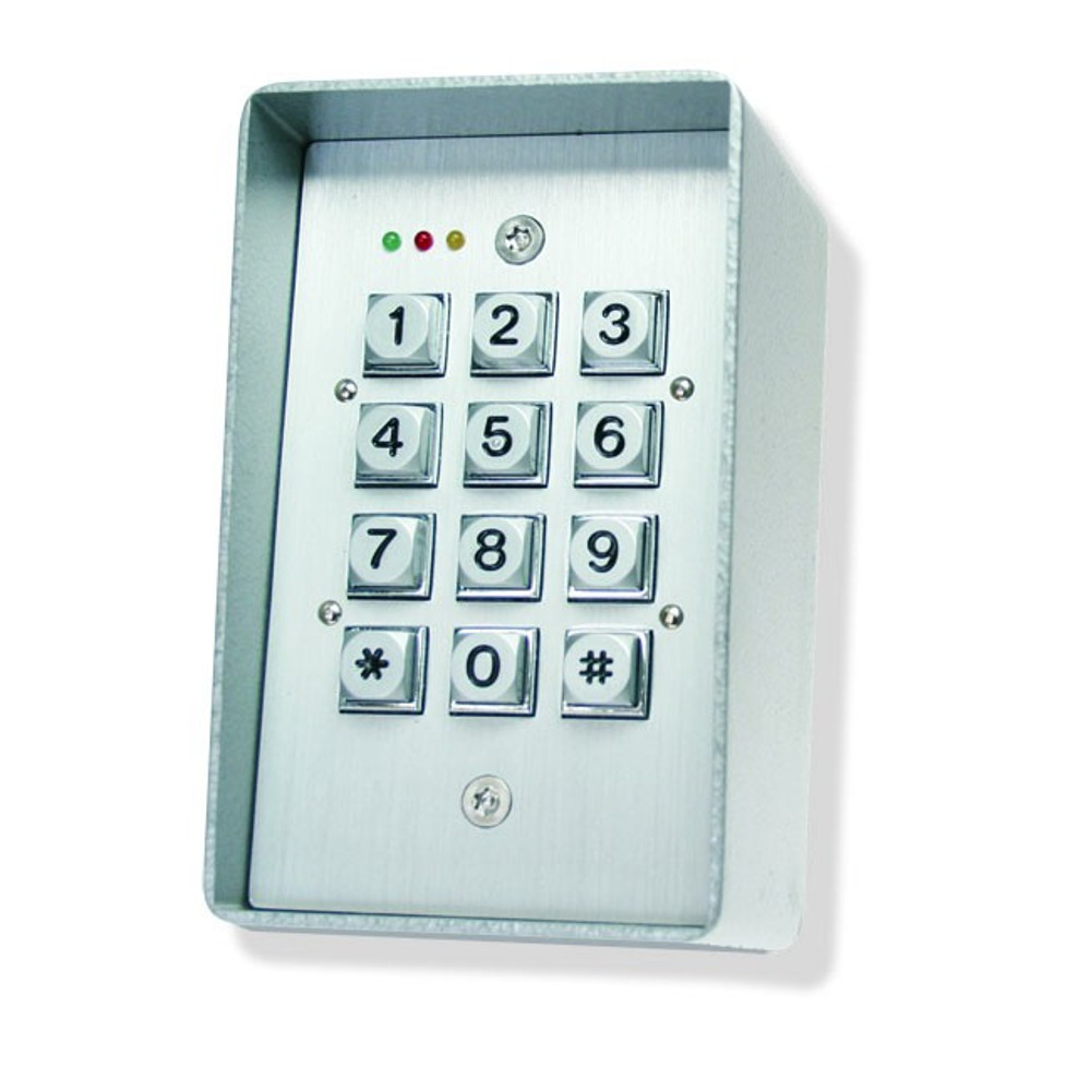 Digital Stand Alone Keypad Back Lit Aluminium Diecast Door Entry