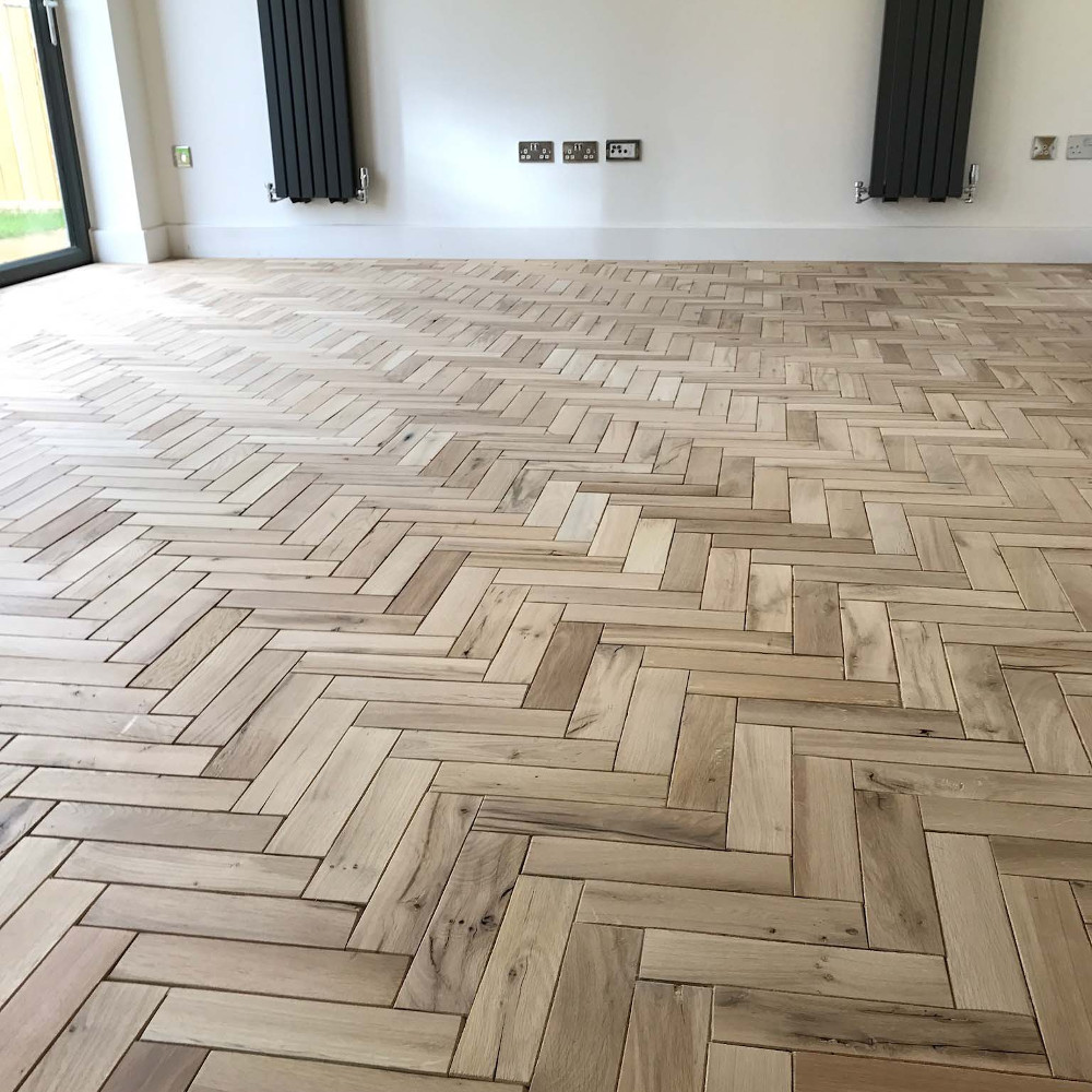 Image Is Loading Parquet Solid Oak Wood Flooring 300mm X 60mm