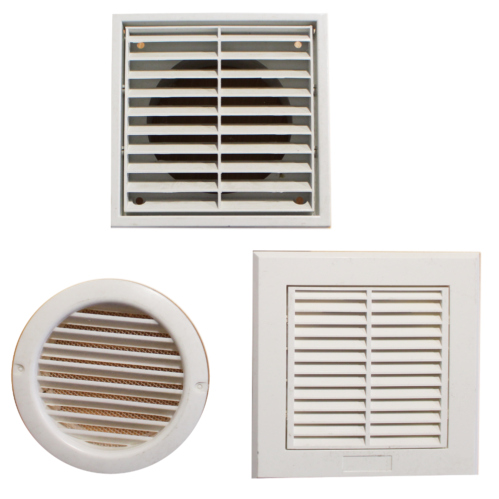 External Air Vent Louvre Wall Grille White Covers For 4