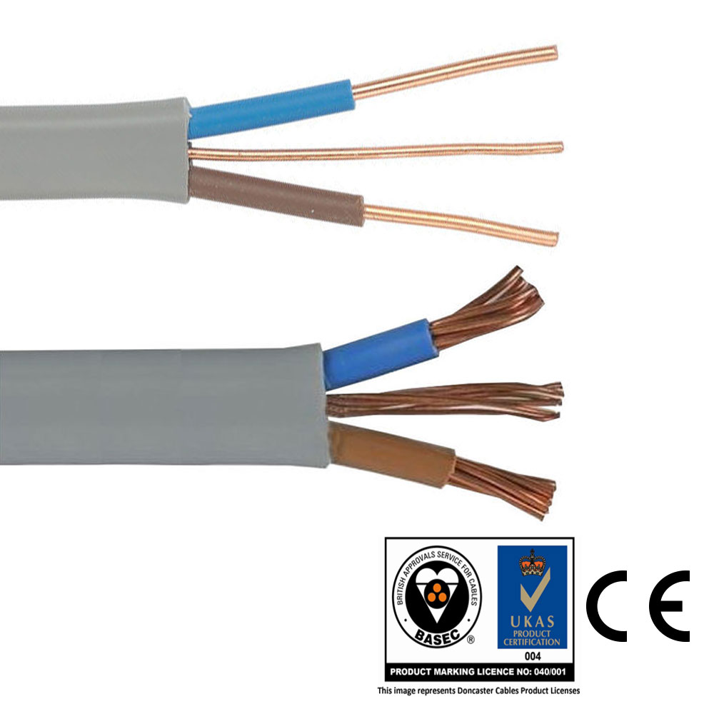 Twin And Earth Te Electric Cable Wire Lights Electrical Socket Wiring 5a Lighting Sockets Large Image