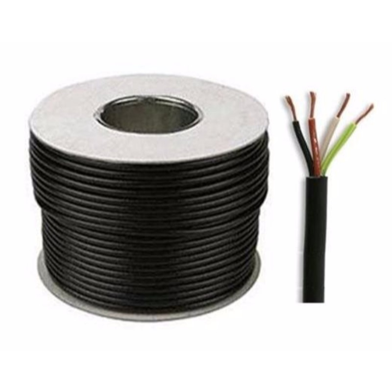 25 Meter Black 1mm 4 Core Round Wire Flexible PVC Power /& Lighting Cable 3184Y