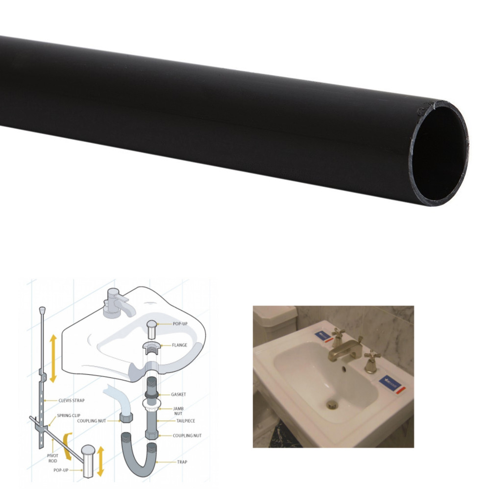 Details About 41mm Dia Poly Pipe Black Plastic Push Fit Waste Plumbing Kitchen Bathroom