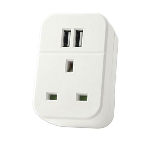 USB Wall Receptacle Charger Dual Outlet Plate Plug Port Socket Adapter Station