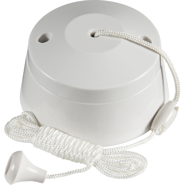 8290 - 6A 1W White Plastic Pull Cord Switch Ceiling ...