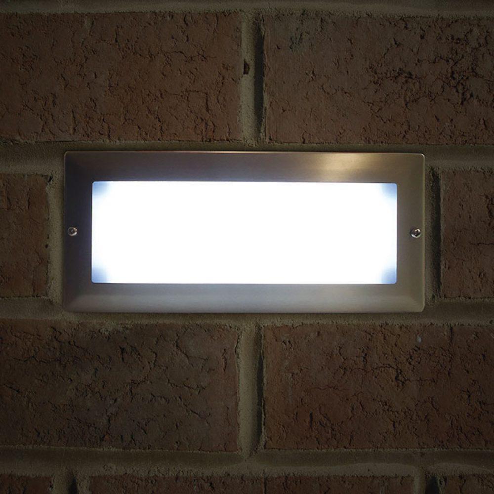 LUCE Parete bricklight IP44 da esterno in alluminio nero 40 WATT