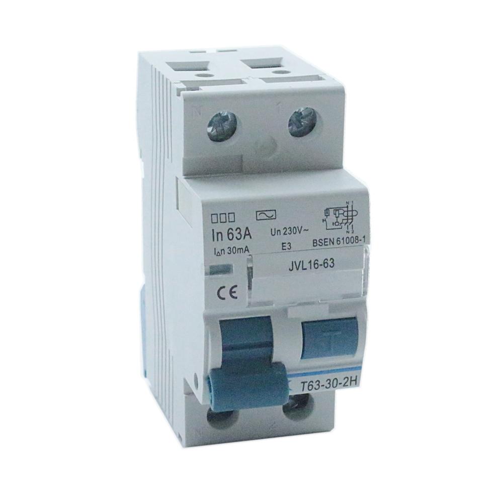 PROTEK 63 Amp 30mA Two Pole RCD T63-30-2H JVL16-63 fits most ...