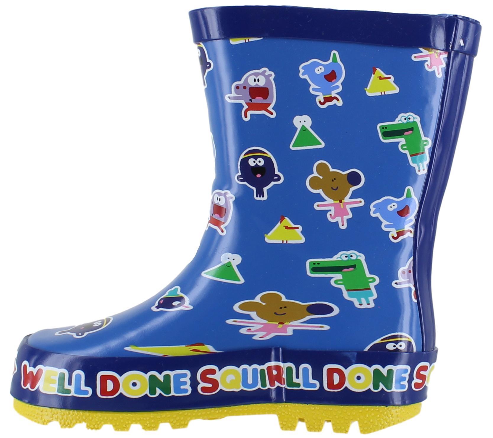 Hey Duggee Condor Boys//Girls Kids Infants Rain Wellies Wellington Boots