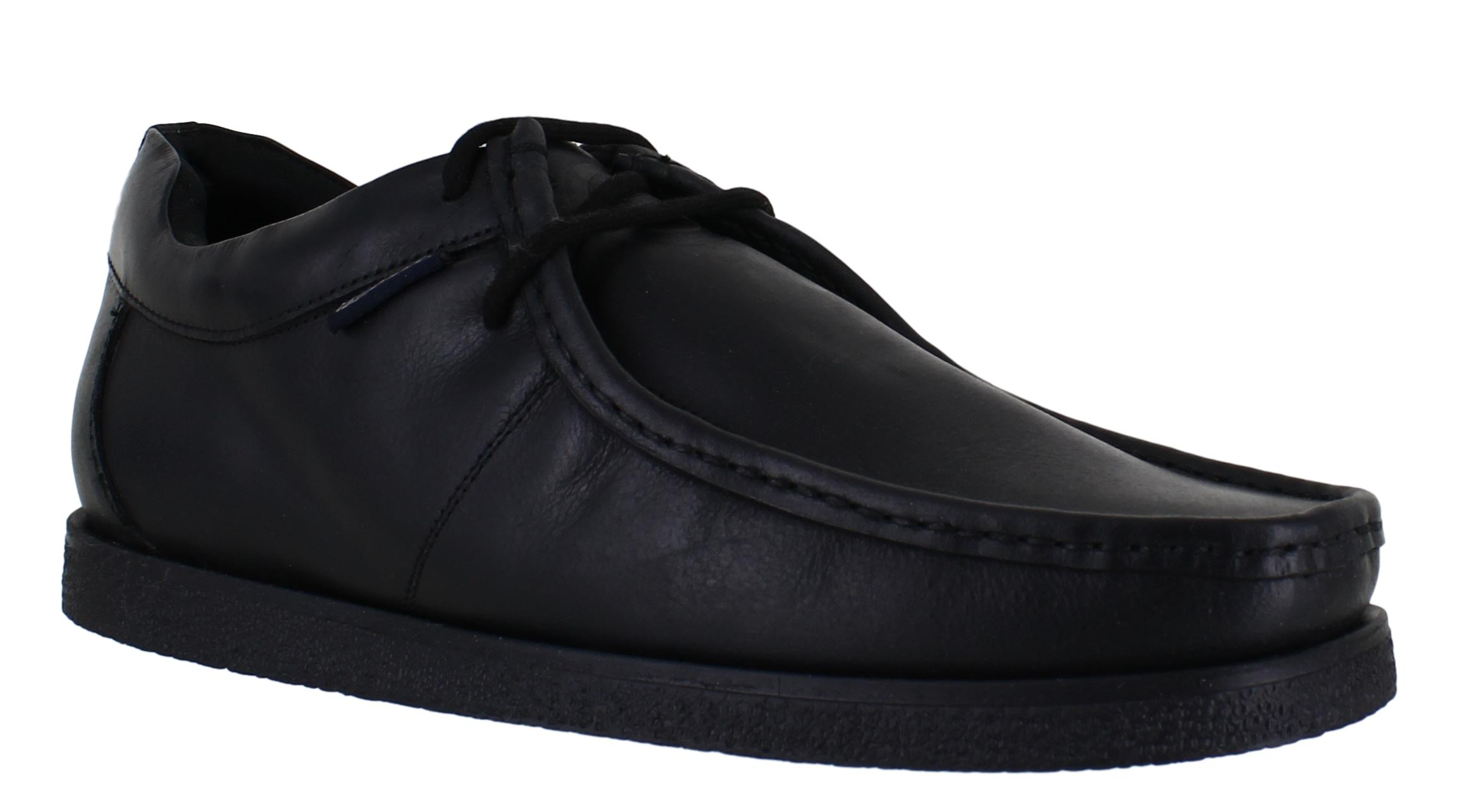 Mens Lambretta Classic Wallabee Leather Lace Up Casual Smart Shoes Sizes 7 to 15