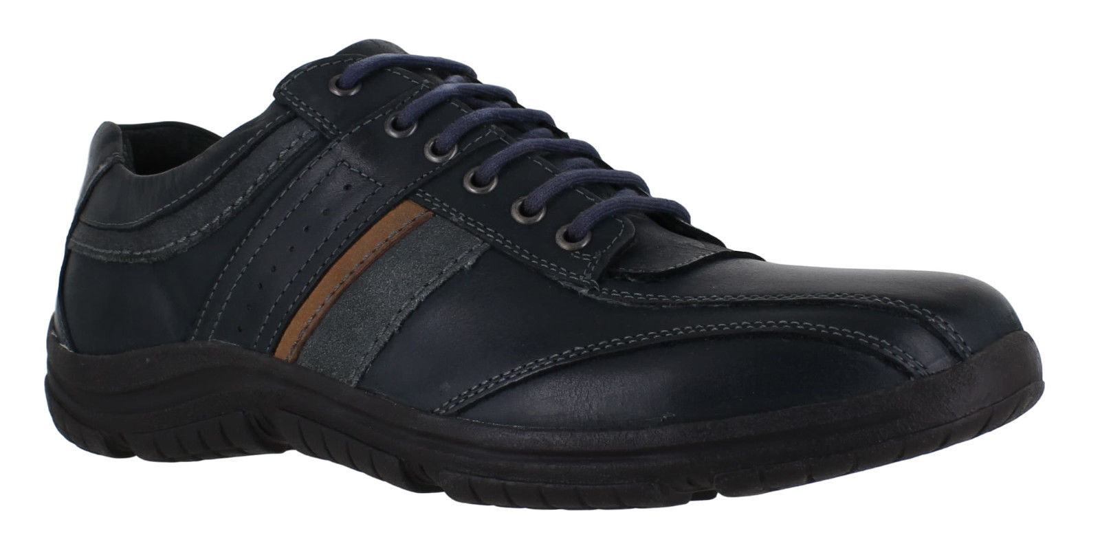 bb02ca5324e Zapatos zapatillas de cuero elegante Casual Hush Puppies Thalia Percy para hombre  azul encaje