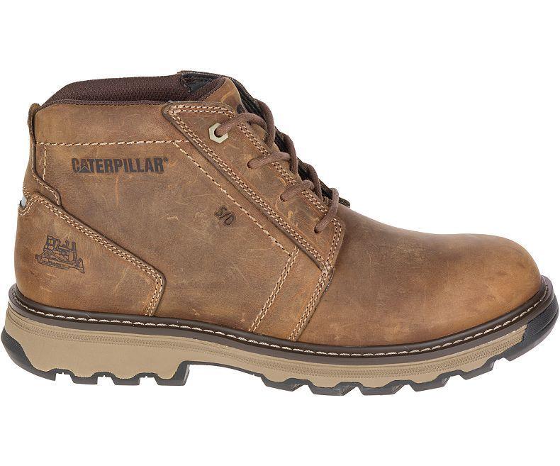 Caterpillar Parker Steel Toe Chukka Boot(Men's) -Dark Beige Full Grain Leather Outlet Online Shop Cheap Price Low Shipping Fee Explore Sale Online Cheap Store Footaction Sale Online EATFHy