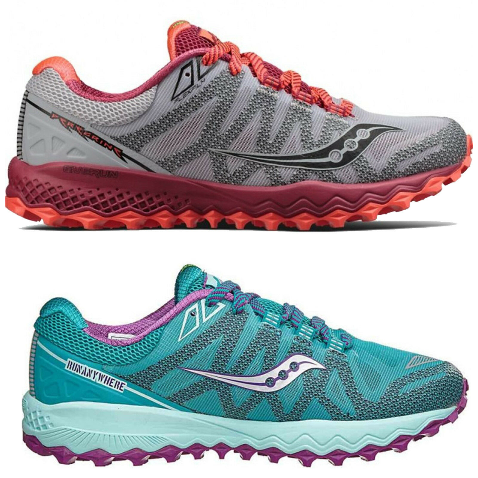 100% authentic c32c7 0a4bd Details about Womens Saucony Peregrine 7 Trail Running Shoes Trainers Sizes  4 5 8 - Medium