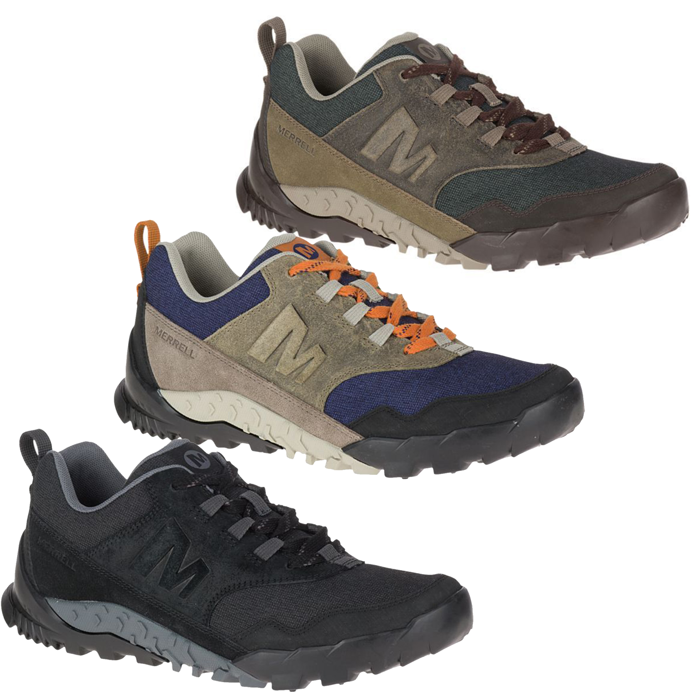 916dab6116 Details about Mens Merrell Annex Recruit Vibram Lace Up Casual Walking  Trainers Sizes 7 to 14